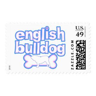 Rosa y sellos ingleses azules del dogo