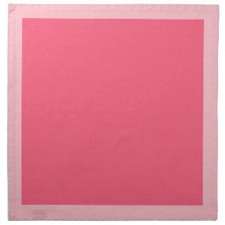 Rosa y servilletas rosadas brillantes