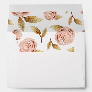 Rosa y sobres color de rosa Painterly del oro