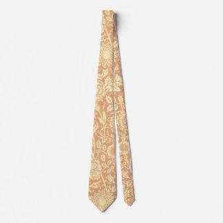 Rosa y subió por William Morris, flores del Corbata Personalizada