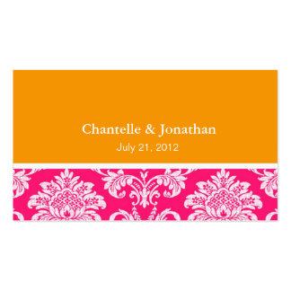 Rosa y tarjeta de visita elegante anaranjada del d