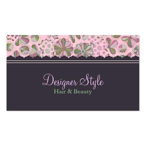Rosa y tarjeta de visita floral de Brown