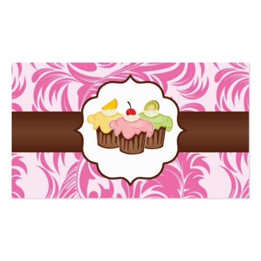 Rosa y tarjeta de visita floral de la panadería de