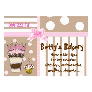 Rosa y tarjeta de visita linda de la panadería de