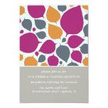 Rosa y tarjetas modernas anaranjadas de la comunicado