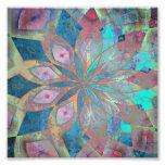 Rosa y teja abstracta azul de la mandala fotografía