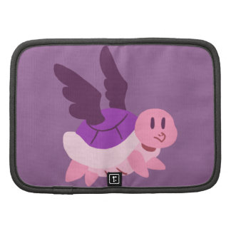 Rosa y tortuga coa alas púrpura planificador