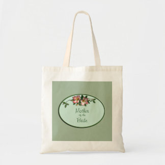 Rosa y tote floral sabio del favor del boda bolsa