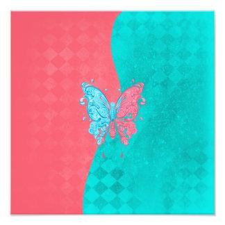 Rosa y trullo de la mariposa de dos tonos fotografía