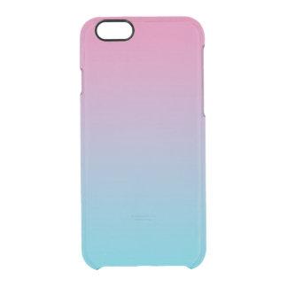 Rosa y turquesa Ombre Funda Clear Para iPhone 6/6S