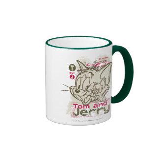 Rosa y verde de Tom y Jerry Taza A Dos Colores