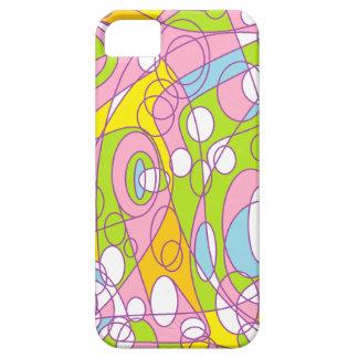 Rosa y verde iPhone 5 Case-Mate carcasa