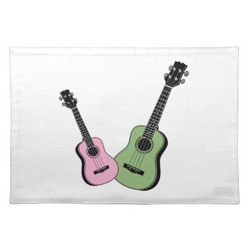 Rosa y verde manteles