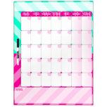 Rosa y verde menta - seque el tablero del calendar pizarras