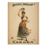 "Rosabel Morrison, en el teatro retro de ""Carmen"" Postales"