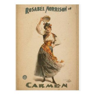 Rosabel Morrison, in 'Carmen' Retro Theater Postcard