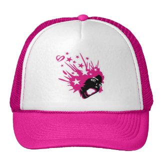 rosáceo guau gorras de camionero