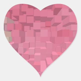 Rosáceo Pegatina En Forma De Corazón