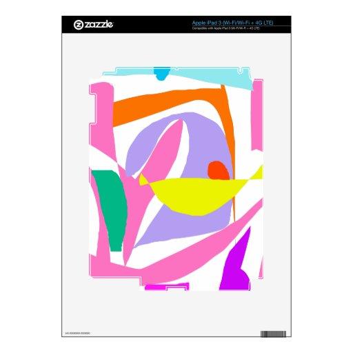Rosado Brave el pensamiento grande ardiente del ci iPad 3 Pegatina Skin