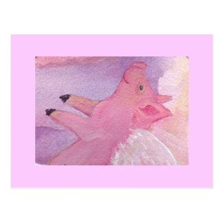 Rosado el cerdo del vuelo - cuando los cerdos vuel postales