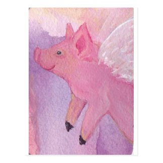 Rosado el cerdo del vuelo - cuando los cerdos vuel postal