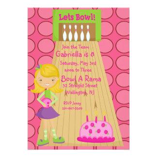 Rosado lindo invitación del fiesta de los bolos
