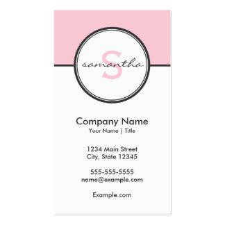 Rosado moderno y gris tarjetas de visita