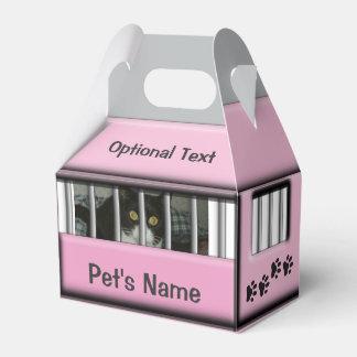 © rosado personalizado del portador del perro caja para regalos de fiestas