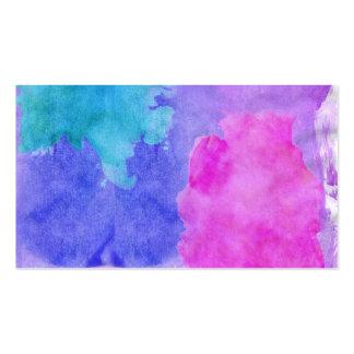 Rosado, púrpura, trullo, y manchas azules de la tarjetas de visita