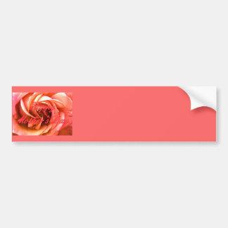 Rosado rojo feliz del día de madre subió el MUSEO  Pegatina De Parachoque