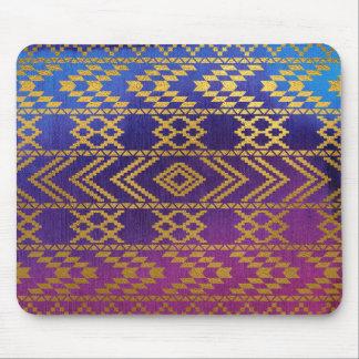 Rosado tribal, púrpura aztecas, aguamarina y alfombrilla de raton