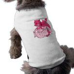 Rosado vista para arriba el dragón camisa de mascota