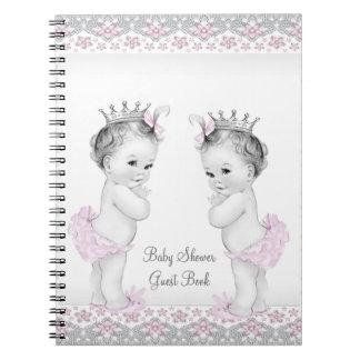 Rosado y gris hermana el libro de visitas de la fi libretas espirales