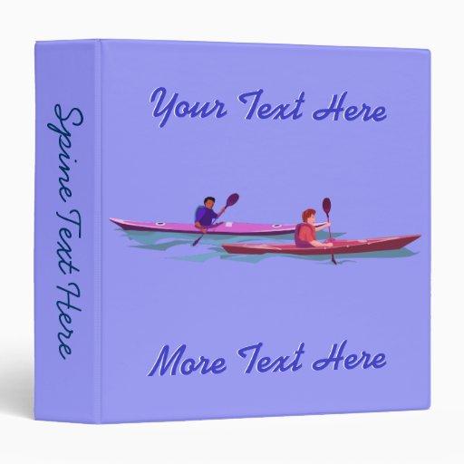 Rosado y púrpura Kayaks la carpeta