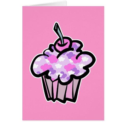 rosado y púrpura se nubla la magdalena tarjeta