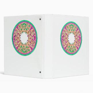 """Rosado y verde gráficos redondos del Victorian col Carpeta 1"""""""