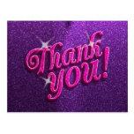 Rosados brillantes y la púrpura le agradecen posta tarjeta postal