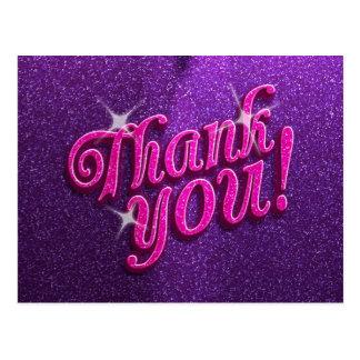 Rosados brillantes y la púrpura le agradecen tarjetas postales