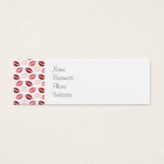 Rosados rojos me besan los regalos del el día de tarjetas de visita mini