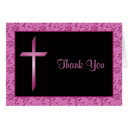 Rosados y negros cristianos le agradecen cardar tarjeta de felicitación