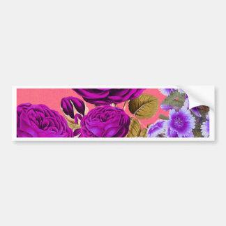 Rosaleda abstracta púrpura del melocotón pegatina para auto