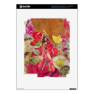 Rosaleda Brown del bailarín iPad 3 Pegatinas Skins