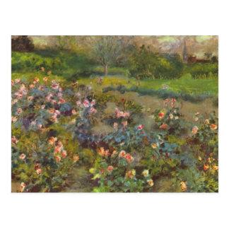 Rosaleda de Pedro Renoir Tarjeta Postal