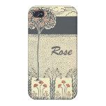 Rosaleda del árbol del rosa rojo en el iPhone 4 iPhone 4/4S Carcasas