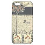 Rosaleda del árbol del rosa rojo en el iPhone 5