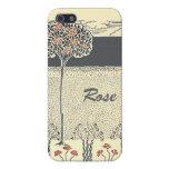 Rosaleda del árbol del rosa rojo en el iPhone 5 iPhone 5 Cárcasa