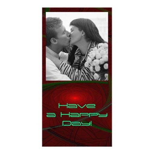 Rosaleda del fractal tarjetas fotograficas personalizadas
