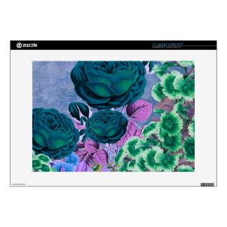 Rosaleda del vintage de las azules turquesas portátil 38,1cm skins