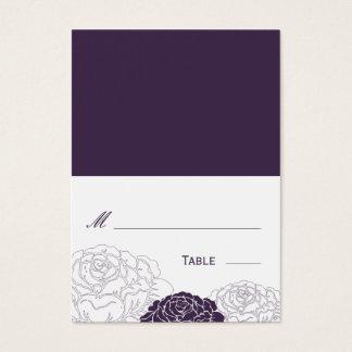 Rosaleda doblada casando la tarjeta del lugar -