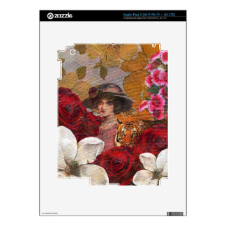 Rosaleda hermosa del tigre de la mujer iPad 3 pegatina skin